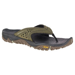 Merrell All Out Blaze Mens Flip Flops, Dusty Olive, 256