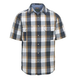 Woolrich Midway Mens Shirt, Deep Indigo Plaid, 256