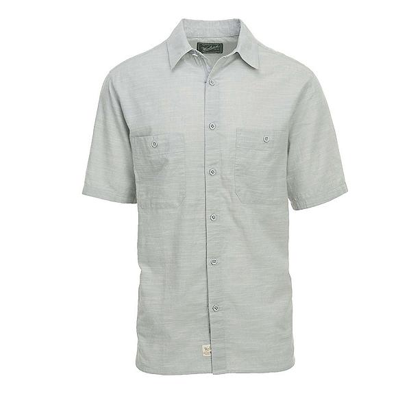 Woolrich Lost Lakes Chambray Mens Shirt, Gray, 600
