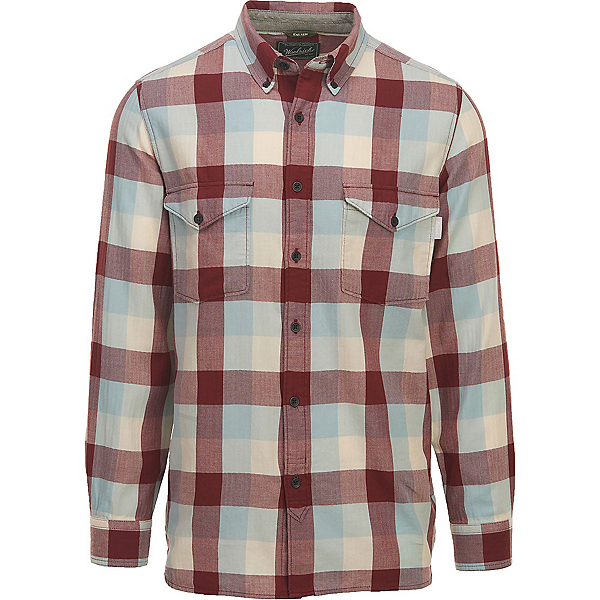 Woolrich Stone Rapids Eco Rich Mens Shirt, Antique Red Buffalo, 600