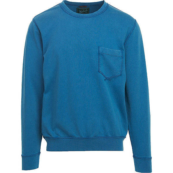 Woolrich Crescent Lake Terry Crew Mens Sweatshirt, Blue Jay, 600