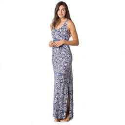 Toad&Co Montauket Long Dress, Indigo Brush Print, 256