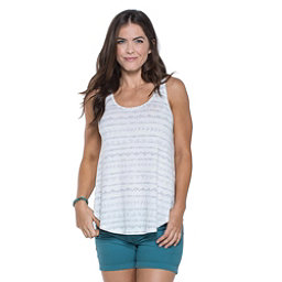 Toad&Co Papyrus Flowy Womens Tank Top, Egret Line Print, 256