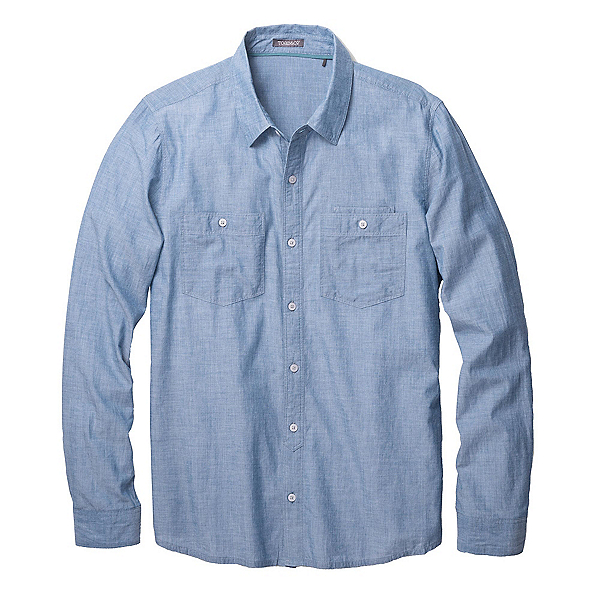 Toad&Co Honcho Dos Long Sleeve Mens Shirt, Blue Abyss, 600