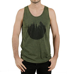 Tentree River Mens Tank Top, Moss, 256