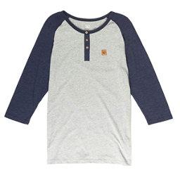 Tentree Standard Mens Shirt, Heather Grey-Blue Shadow, 256