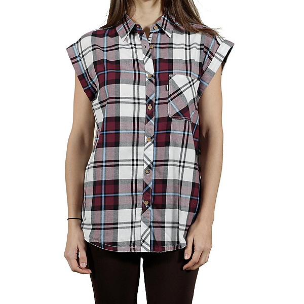 Tentree Mallow Womens Shirt, Maroon, 600