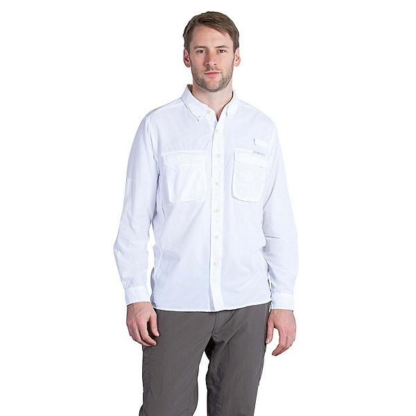 ExOfficio Air Strip Long Sleeve Mens Shirt, White, 600