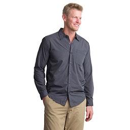 ExOfficio Salida Plaid Shirt Long Sleeve Mens Shirt, Cement, 256