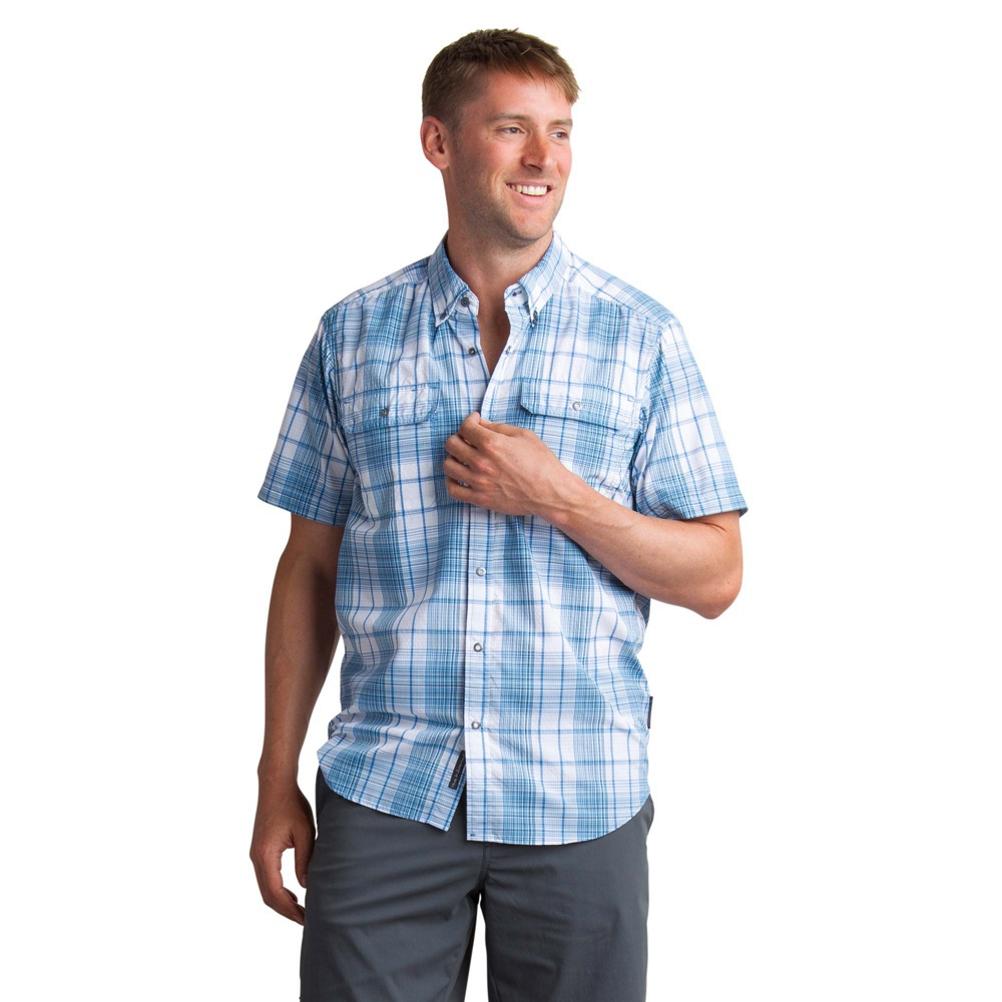 ExOfficio Sol Cool Leman Plaid Short Sleeve Mens Shirt