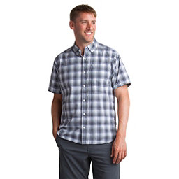 ExOfficio Sol Cool Leman Plaid Short Sleeve Mens Shirt, Cement, 256