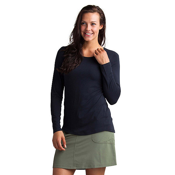 ExOfficio Sol Cool Bateau Long Sleeve Womens Shirt, Black, 600
