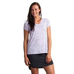 ExOfficio Wanderlux V-Neck Short Sleeve Womens Shirt, Pale Lilac Marl, 256