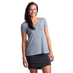 ExOfficio Wanderlux V-Neck Short Sleeve Womens Shirt, Grey Heather, 256