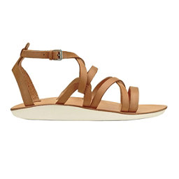 OluKai Po'iu Womens Sandals, Mustard-Bone, 256