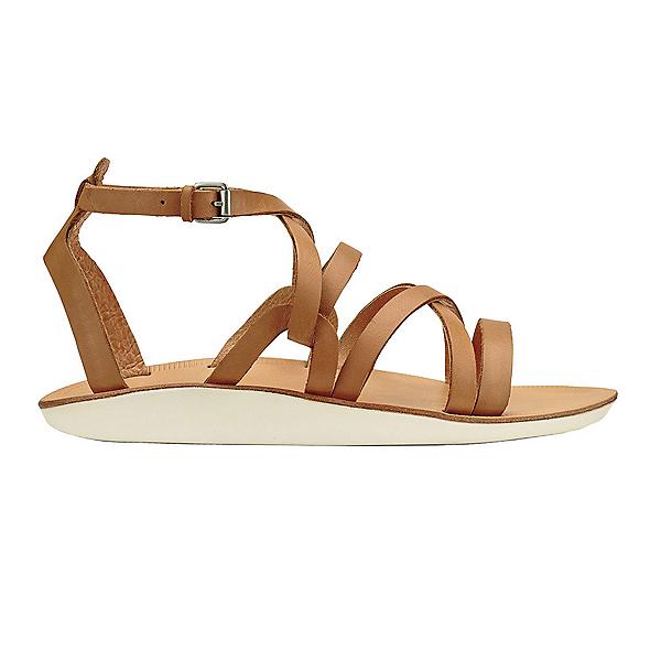 OluKai Po'iu Womens Sandals, Mustard-Bone, 600