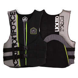 Liquid Force Vortex CGA Adult Life Vest 2017, Black-Silver, 256