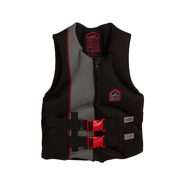 Liquid Force Hinge CGA Teen Life Vest, Black-Red, 600
