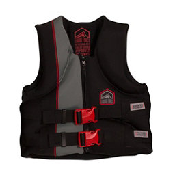 Liquid Force Junior Hinge CGA Junior Life Vest, Black-Red, 256