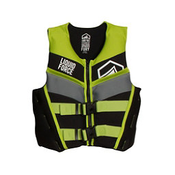 Liquid Force Fury Junior Life Vest 2018, Black-Green, 256