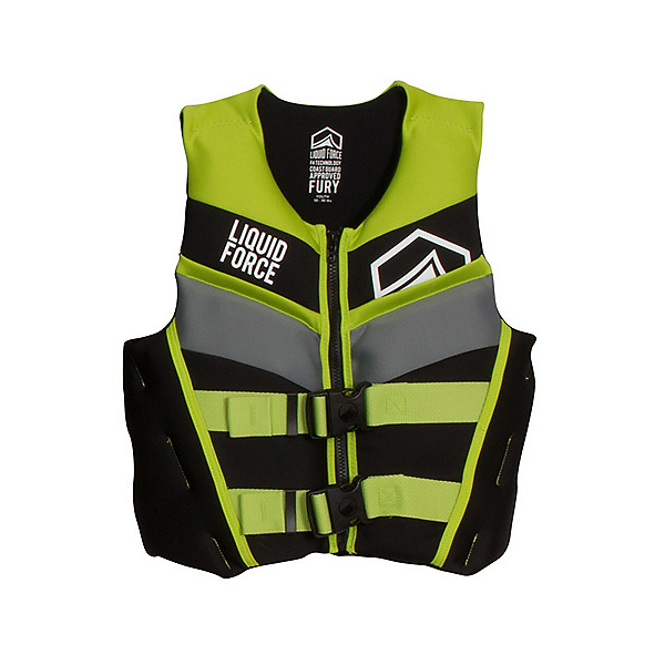 Liquid Force Fury Junior Life Vest 2018, Black-Green, 600