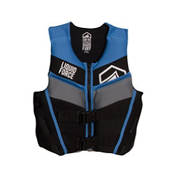 Liquid Force Fury Junior Life Vest 2017, Black-Blue, 256