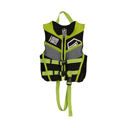Liquid Force Fury Child Toddler Life Vest 2018, Black-Green, 256