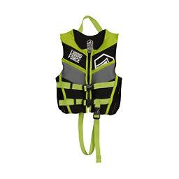 Liquid Force Fury Child Toddler Life Vest 2017, Black-Green, 256