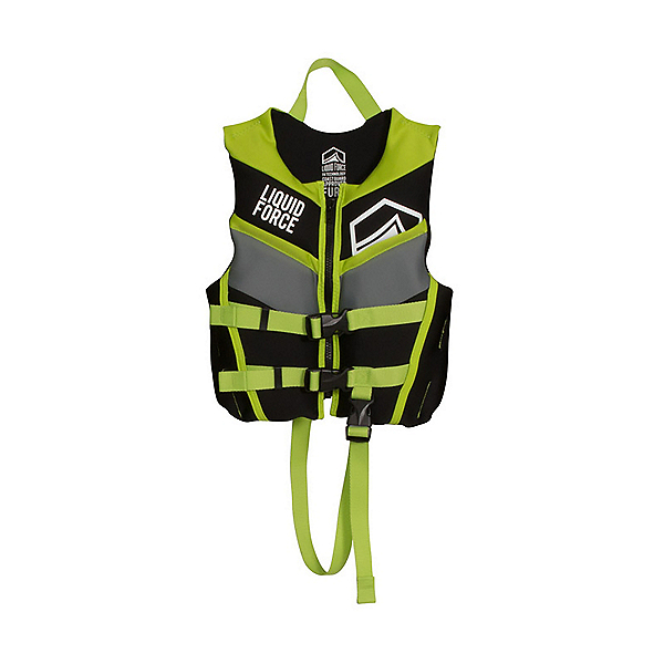 Liquid Force Fury Child Toddler Life Vest 2017, Black-Green, 600