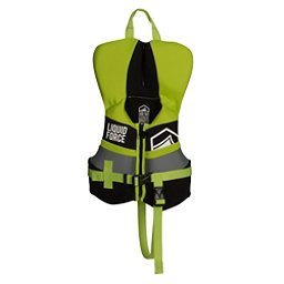 Liquid Force Fury Infant Life Vest 2018, Black-Green, 256