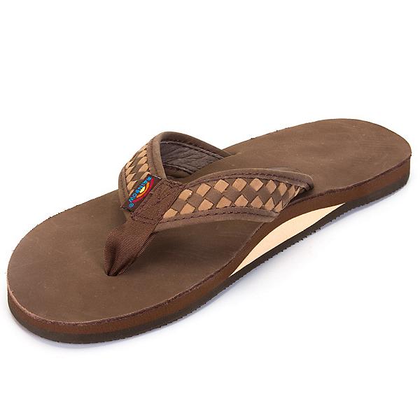Rainbow Sandals The Bentley Premier Mens Flip Flops, Expresso-Dark Brown, 600