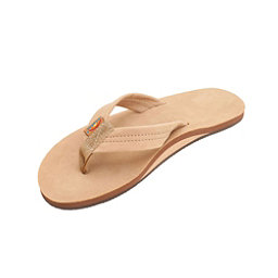 Rainbow Sandals Single Layer Premier Leather Mens Flip Flops, Sierra Brown, 256