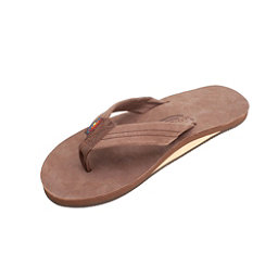 Rainbow Sandals Single Layer Premier Leather Mens Flip Flops, Expresso, 256