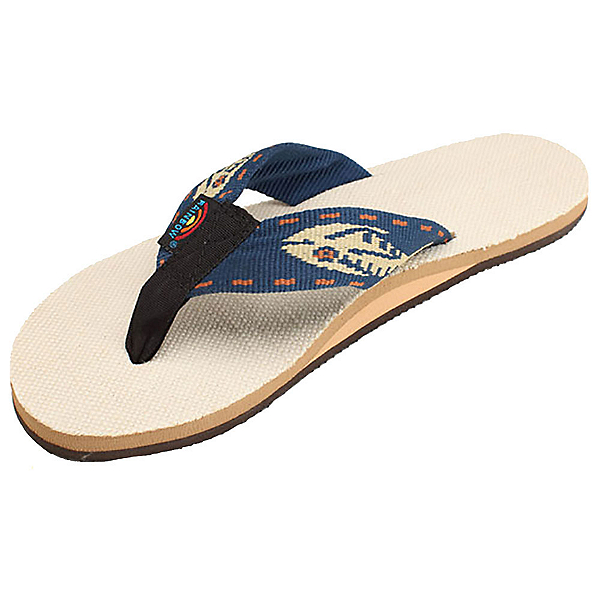 Rainbow Sandals Single Layer Hemp Fish Strap Mens Flip Flops, Gold, 600