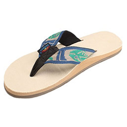Rainbow Sandals Single Layer Hemp Fish Strap Mens Flip Flops, Light Green, 256