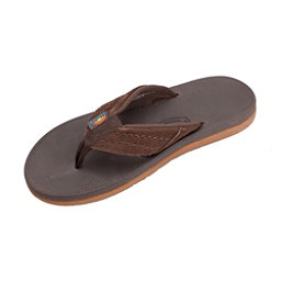 Rainbow Sandals East Cape Mens Flip Flops, Dark Brown, 256