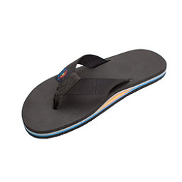 Rainbow Sandals Classic Rubber Mens Flip Flops, All Black-Rainbow Arch, 256