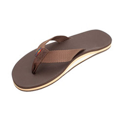 Rainbow Sandals Classic Rubber Mens Flip Flops, Brown, 256