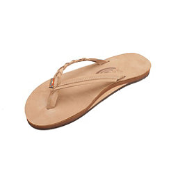 Rainbow Sandals Flirty Braidy Womens Flip Flops, Sierra Brown, 256