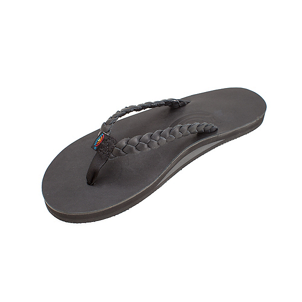 Rainbow Sandals Twisted Sister Womens Flip Flops, Black, 600