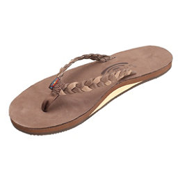 Rainbow Sandals Twisted Sister Womens Flip Flops, Expresso, 256