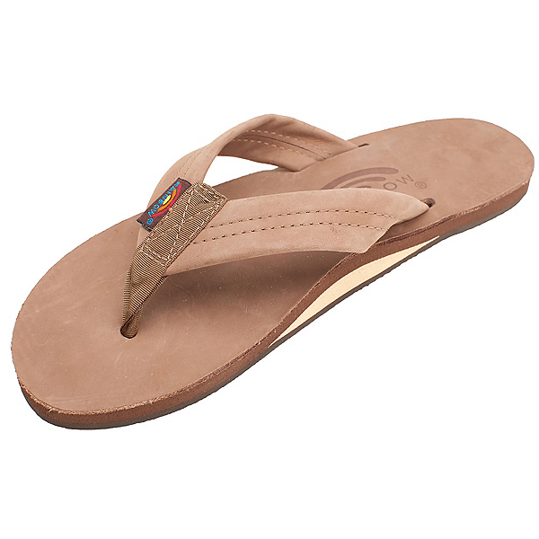 Rainbow Sandals Premier Leather Womens Flip Flops, Dark Brown, 600