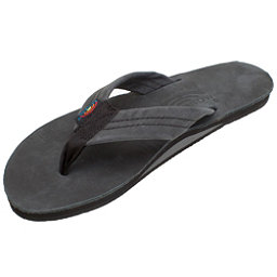 Rainbow Sandals Premier Leather Womens Flip Flops, Black, 256