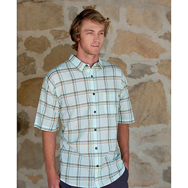 Purnell Light Green Madras Plaid Mens Shirt, , 600