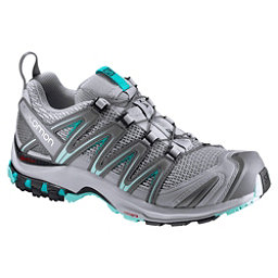 Salomon XA Pro 3D Womens Shoes, Quarry-Pearl Blue-Aruba Blue, 256
