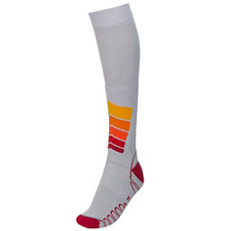 Euro Sock Ski Silver Compression Plus Ski Socks, Silver, 256