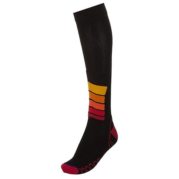 Euro Sock Ski Silver Compression Plus Ski Socks, Black, 600