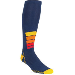 Euro Sock Ski Silver Compression Plus Ski Socks, Navy, 256