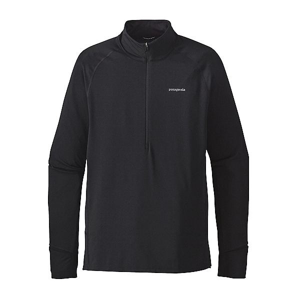 Patagonia All Weather Zip Neck Mens Mid Layer, Black, 600