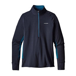 Patagonia All Weather Zip Neck Mens Mid Layer, Navy Blue, 256